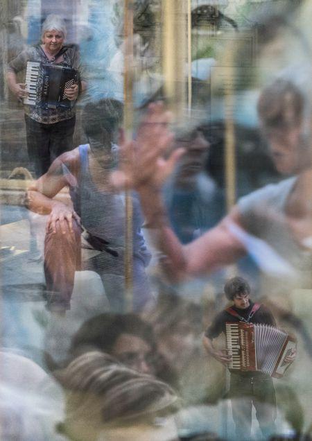 Pneuma performance Jonah Brody & Sylvia Hallett